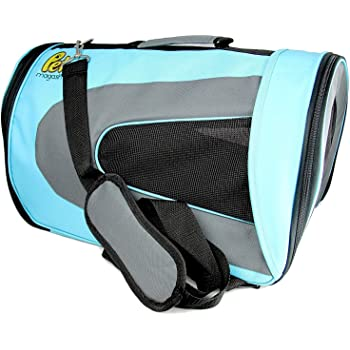 Pet Magasin Airline Approved Cat Carrier - Water Resistant, Collapsible, Soft-Sided Kennel for Cats, Small Dogs, Puppies and Small Animal