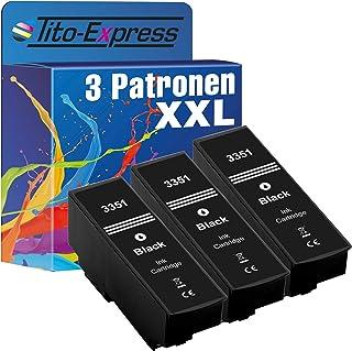 Tito Express PlatinumSerie 3 Patronen XXL kompatibel mit Epson T3351   T3364 33XL | Für Expression Premium XP 640 XP 900 XP 645 XP 540 XP 7100 XP 630 XP 635 XP 830 XP 530 | Black 28ml
