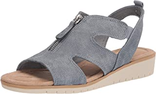 Easy Street Women's Wedge Sandal, Denim Linen, 6.5 X-Wide