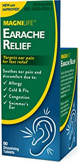 MagniLife Earache Pain and Discomfort Relief Treatments: Cold/Flu, Congestion, Swimmer's Ear and More (90 Tablets)