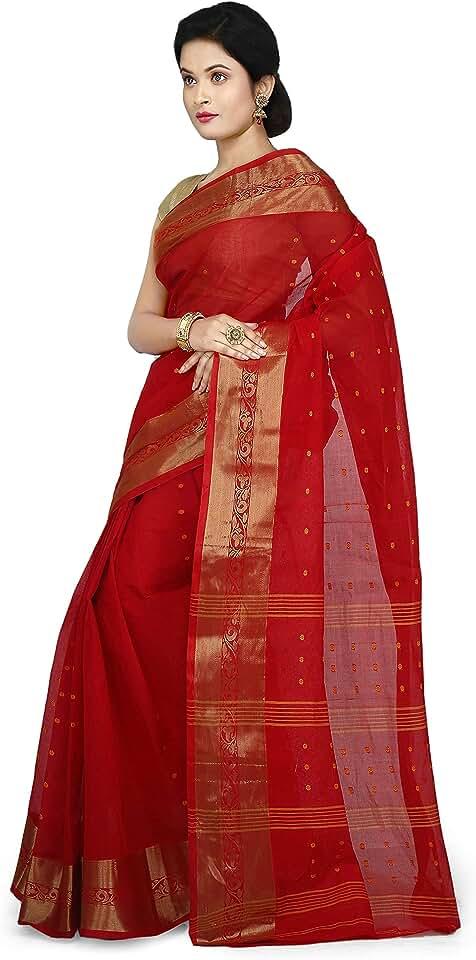 Indian WoodenTant Women's Tant Cotton Saree Saree