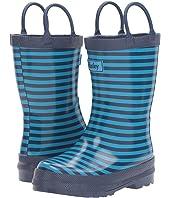 Hatley Kids Navy Striped Rain Boots (Toddler/Little Kid)