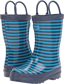 Navy Striped Rain Boots (Toddler/Little Kid)
