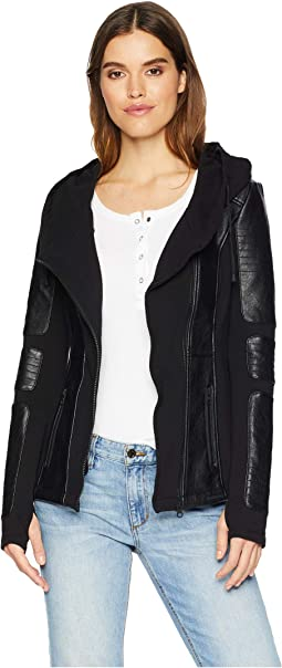 Asymmetrical Hooded Moto Jacket