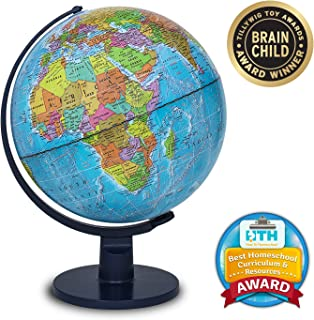"""Waypoint Geographic World Globe for Kids - Scout 12"""" Desk Classroom Decorative Globe with Stand, More Than 4000 Names, Places - Current World Globe"""