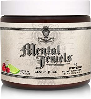 Ambrosia Mental Jewels Powder - Cognitive Enhancer | Increase Memory, Communication Skills, Concentration & Focus | Decrea...