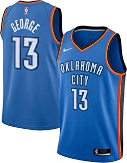 Nike Paul George Oklahoma City Thunder NBA Youth 8-20 Blue Road Icon Edition Player Jersey