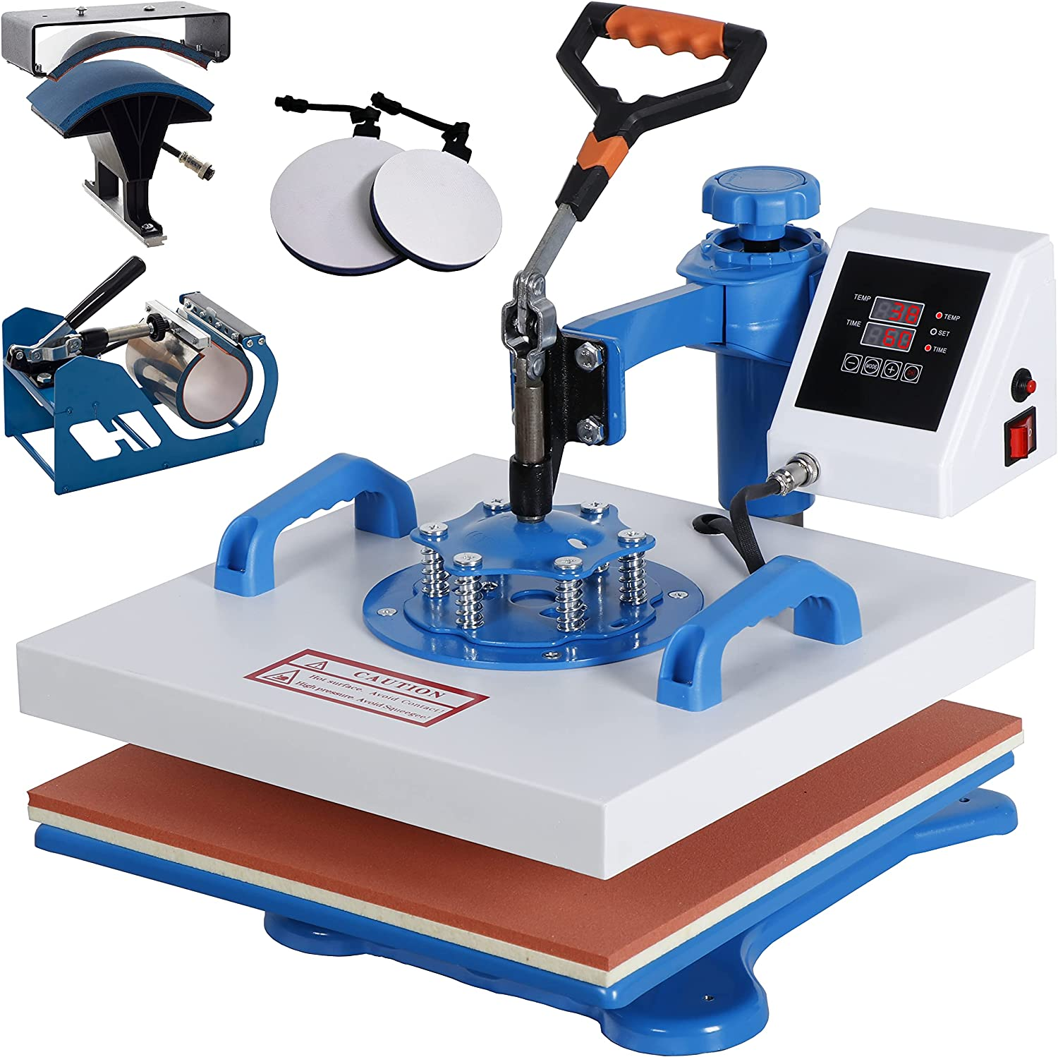 VLVY Heat Press Machine15x15 Inch 5 in Max 63% OFF 1 Printer Animer and price revision Combo Transfer