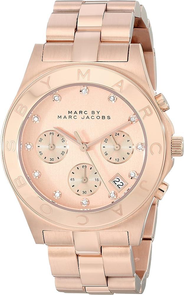 Marc jacobs orologio in acciaio inossidabile trattato analogico da donna MBM3102