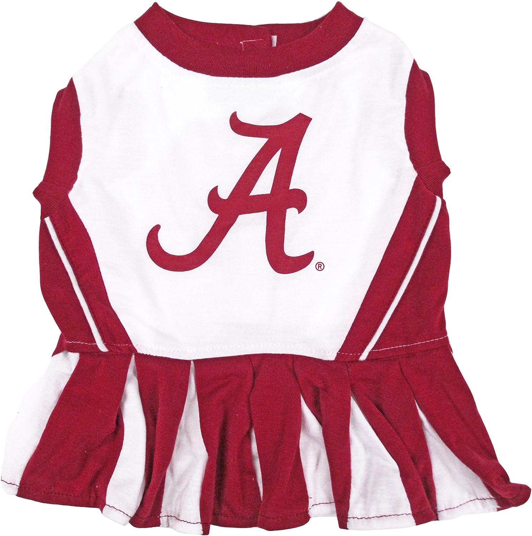 NCAA ALABAMA CRIMSON TIDE Dog Cheerleader Outfit, Small
