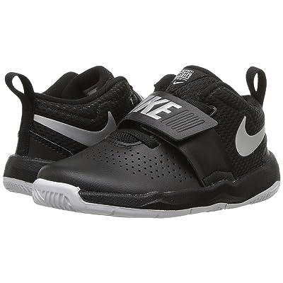 Nike Kids Team Hustle D8 (Infant/Toddler) (Black/Metallic Silver/White) Boys Shoes