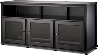 Salamander Designs SB339B/B Synergy Triple Wide A/V Cabinet with Doors and a Center Channel Opening