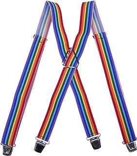St. Patrick's Day Suspenders for Men & Women Lucky Green Shamrocks Rainbows