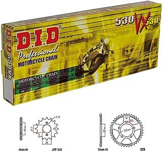 Kit Transmisi/ón Arrastre Cadena reforzada Pi/ñon y Corona compatible con Suzuki GSF 600 650 Bandit 1995-2005 DID 530VX