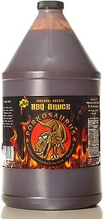 Porkosaurus Memphis BBQ Sauce Sweet & Tangy Barbecue – World Championship Sauce – Ribs, Burgers, Steak, Chicken: Dip, Baste, Marinade & Devour (NO MSG, Gluten or High Fructose Corn Syrup) Gal Bottle