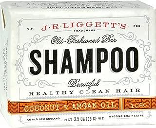 J.R. Liggett Bar Shampoo, Virgin Coconut Aragan Oil, 3.5 oz.