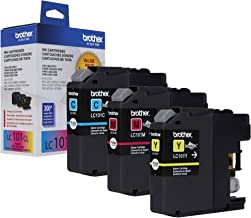 Brother Genuine Standard Yield Color Ink Cartridges, LC1013PKS, Replacement Color Ink Three Pack, Includes 1 Cartridge Eac...