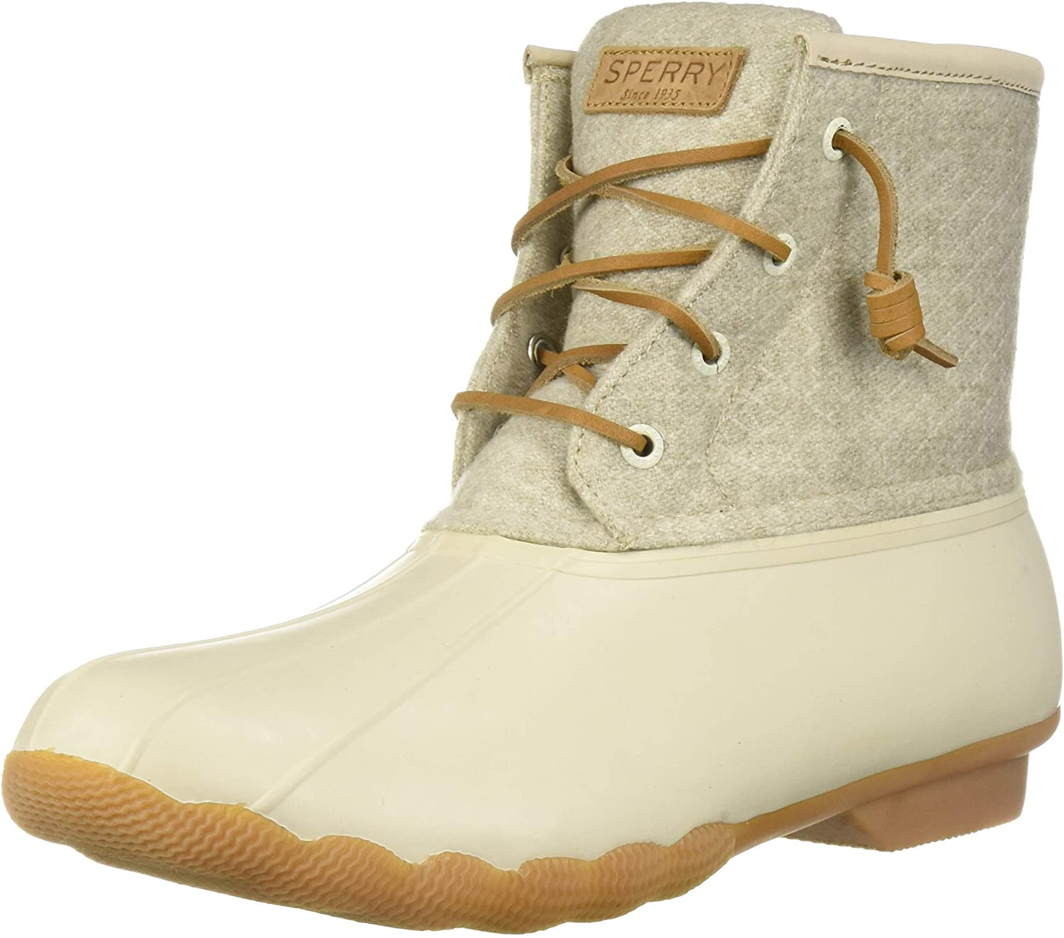 Sperry Women's Saltwater Emboss Wool Rain Boot