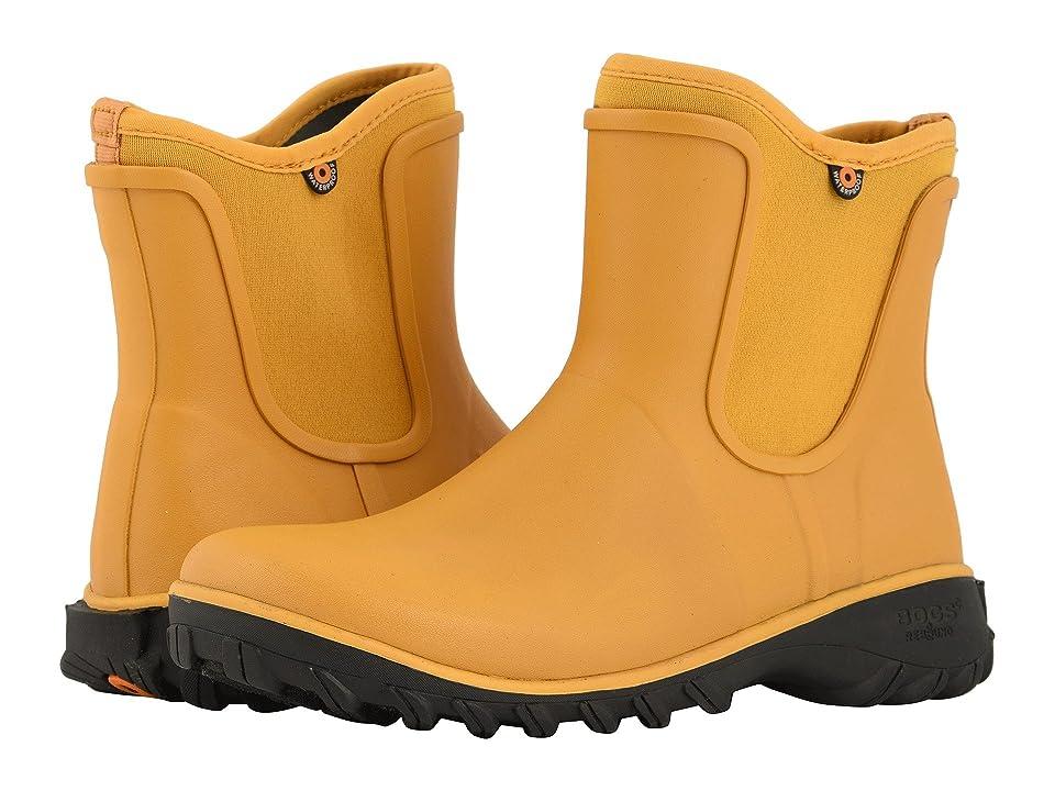 Bogs Sauvie Solid Slip-On Boot (Mustard) Women