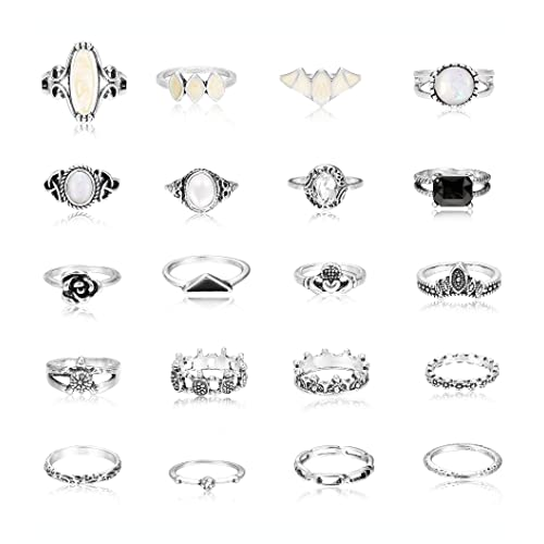 7ab5f2441 Milacolato 20PCS Vintage Knuckle Ring Set for Women Girls Boho Stackable  Midi Fingers Rings