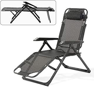 Mecor Zero Gravity Lounge Chairs Folding Bed Adjustable Recliner Patio Chairs Folding Recliner Outdoor Indoor Yard Beach (Stripe)