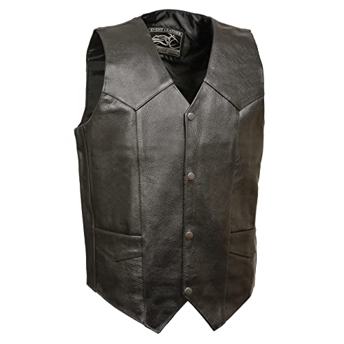 Jacket Sleeveless Man Diamond Eco-Leather Black Casual Vest Jacket Slim Fit