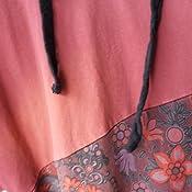 YuanDian Donna Autunno Invernali Vestiti in Felpa Maglia Lunga con Cappuccio Abito in Maglia Letteratura Artistico Stile retr/ò Stampa Oversize Lungo Pullover Maglione Vestito