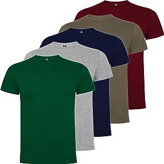 Pack 5 | Camiseta Algodón Hombre | Camiseta Básica Hombre Premium | Manga Corta