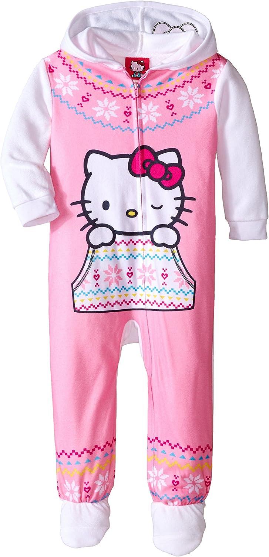 Hello Kitty Little Girls' Hooded Fleece Blanket Sleeper