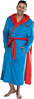 DC Comics Adult Superhero Plush Fleece Hooded Costume Robe