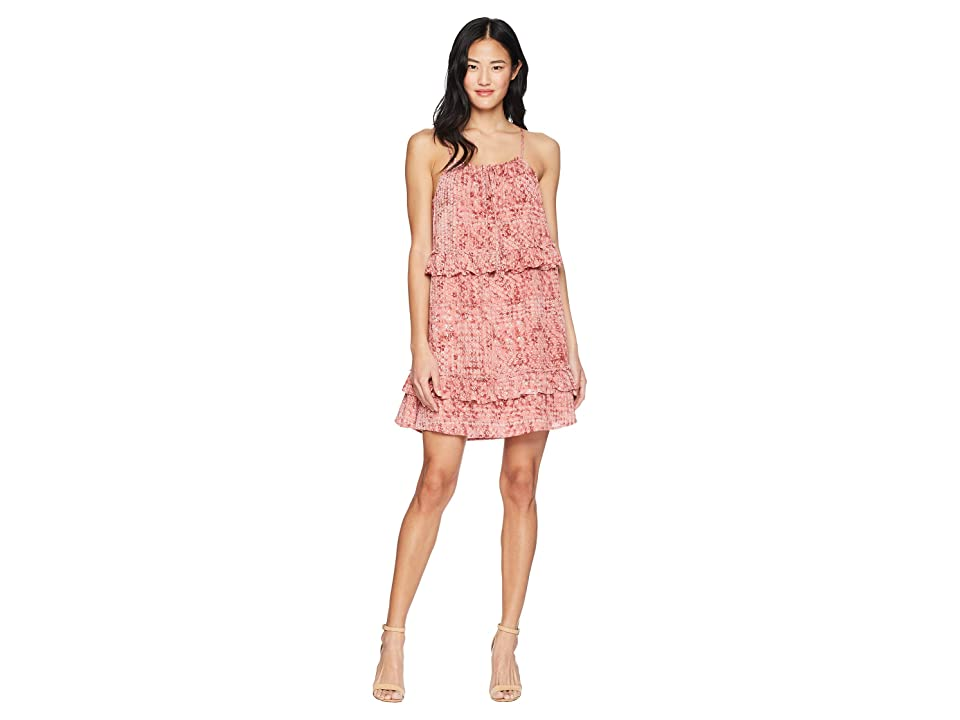 Jack by BB Dakota Logan Beach Batik Printed Dress (Rosette Pink) Women