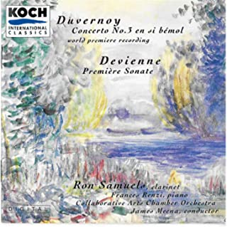 Samuels, Ron - French Music For Clarinet: Duvernoy: Concerto No. 3; Devienne: Sonata No. 1; Music By Francaix