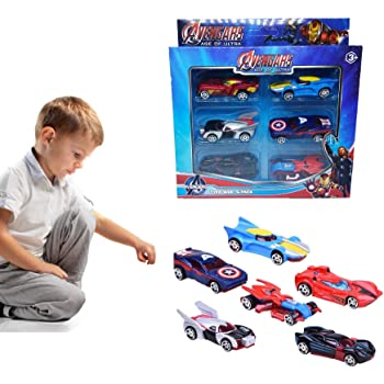 METRO TOY'S & GIFT Hot Diecast Metal Car Set Models Collection of Toy Avengers Cars for Children( 6 Pcs Set)