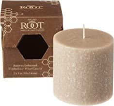 product image for Root Candles Unscented Timberline Pillar Candle , 3 x 3-Inches , Taupe