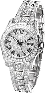 Austria Crystal Pave Dial Crystal Encrusted Bling Womens Watch reloj de Mujer