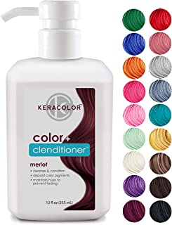 Keracolor Clenditioner Hair Dye (18 Colors) Depositing Color Conditioner Colorwash, Semi Permanent, Vegan and Cruelty-Free, 12 fl. Oz