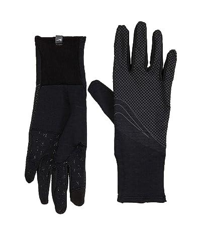 Nike 360 Sphere Running Gloves (Black/Black/Silver) Gore-Tex Gloves