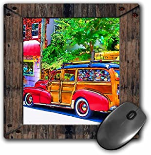 3dRose LLC 8 x 8 x 0.25 Inches Mouse Pad, Golden Orb and Pretty Fairy, Orange Pansies, in Garden (mp_167050_1)