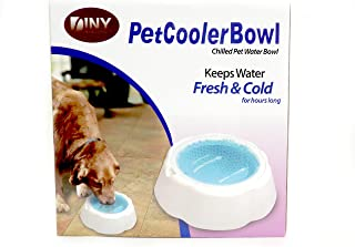 DINY Home & Style Chilled Pet Cooler Bowl Keeps Water Cool Fresh Hours Dogs & Cats