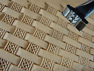 Stainless Steel Barry King - #2 Celtic Basket Weave Stamp (Leather Tool)