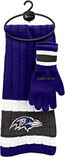 Littlearth NFL Unisex NFL Scarf and Glove Gift Set
