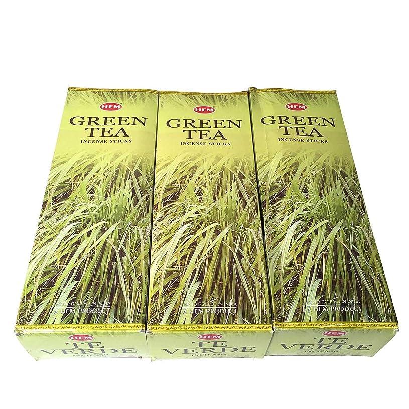 シンカン副詞送るグリーンティー香スティック 3BOX(18箱) /HEM Green Tea/インセンス/インド香 お香 [並行輸入品]