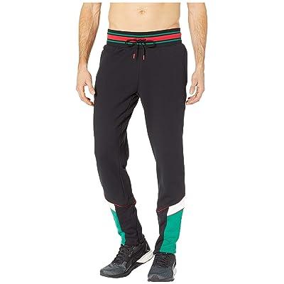 PUMA Lux MCS Track Pants (Puma Black/Verdant Green) Men