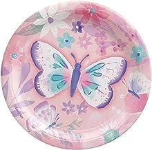 Amscan 540025 Flutter Round Plate 7-inch Diameter