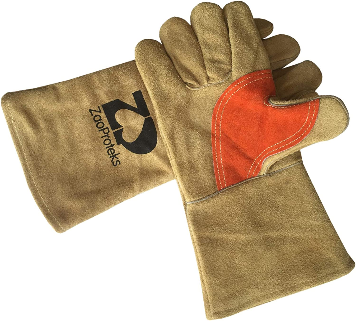ZP1701 Cowhide Leather Heat Welding Gloves Ranking TOP7 New color Resistant