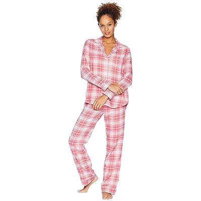 UGG Raven Woven Sleepwear Set Flannel Gift (Claret Red Plaid) Women