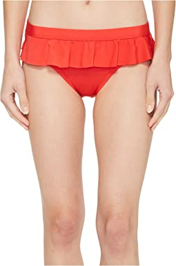 Kenneth Cole - Ready To Ruffle Smocked Skirted Bikini Bottom