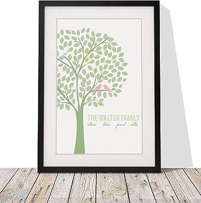 Personalised Family Print Gift Present  Framed