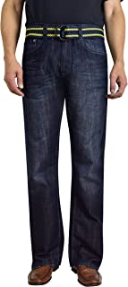 Men's Fashion Bootcut Blue Jeans Regular Fit Mens Work Pants
