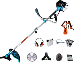 PROYAMA 42.7cc 2 in 1 Extreme Duty 2-Cycle Gas Dual Line Trimmer and Brush Cutter, Grass Trimmer